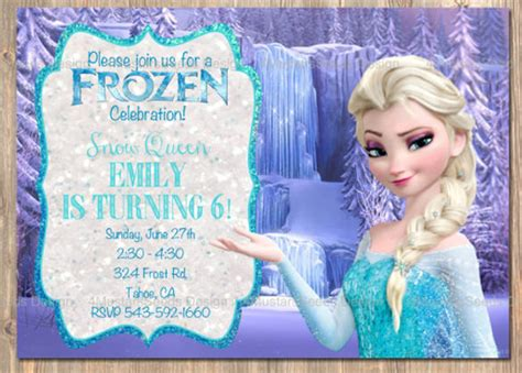 frozen birthday card template 14 frozen birthday invitation free psd ai vector eps format free premium templates
