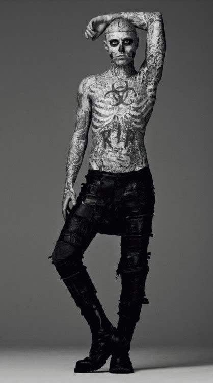 man with full body zombie tattoo zombie boy on tumblr
