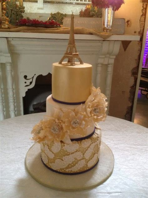 gold themed cake gold paris themed wedding cake cake by nancy s cakes and
