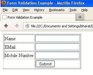 name pattern validation in javascript javascript form validation exle