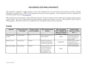 Film production risk assessment form 1 728