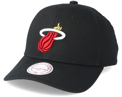 low profile reptile heat miami heat team logo low profile black adjustable