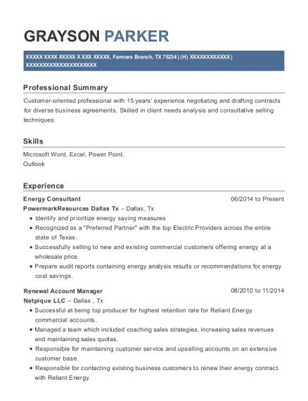 Sle Resume Energy Consultant reliant energy customer service number dallas tx