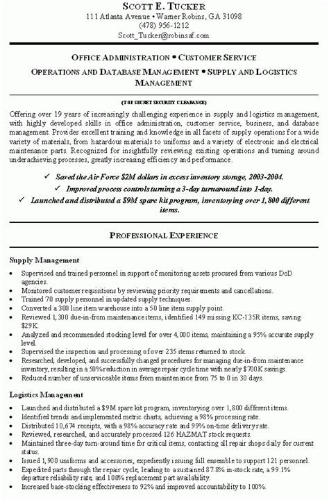 Government Resume Exles by Federal Resumes Cover Letter