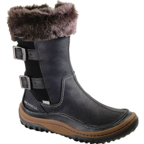 merrell leather boots merrell merrell decora chant black waterproof leather boot with buckle detail merrell from