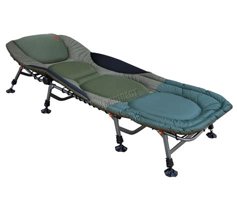 portable carp fishing bed chair bedchair cing 8 adjustable legs pillow fb 022