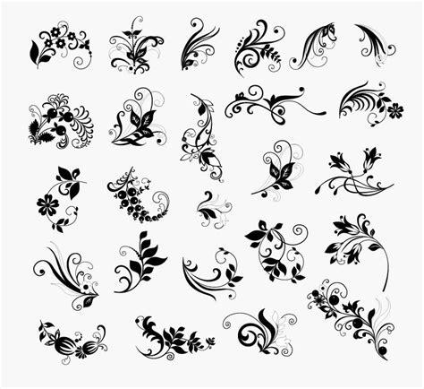 vector vintage floral design elements free vector in vector set of floral elements for design free vector