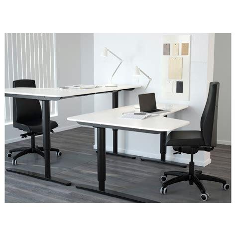 Corner Desk Tops Bekant Left Corner Table Top White 160x110 Cm Ikea