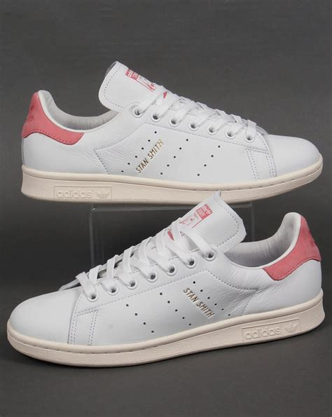 adidas stan smith trainers white pink originals shoes mens