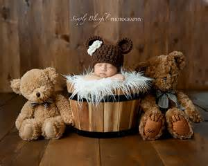baby photo props newborn hat newborn photo prop brown hat baby