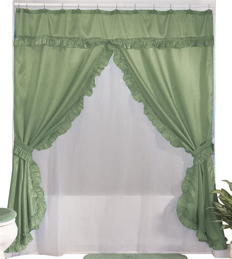 double swag shower curtains with valance walterdrake double swag shower curtains with valance ebay