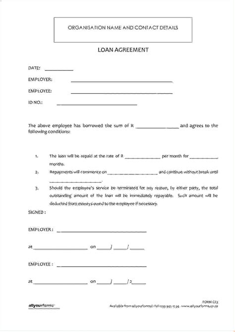 money agreement template 4 money loan contractreport template document report