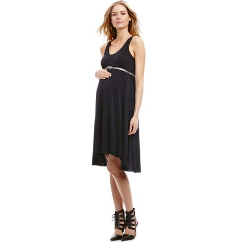 maternity high low belted maternity tank