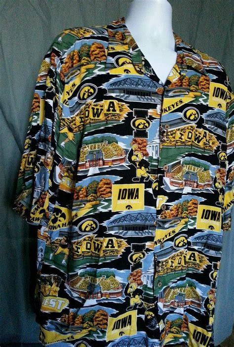 details  reyn spooner tropical college scenic iowa hawkeyes basketball hawks shirt xxl