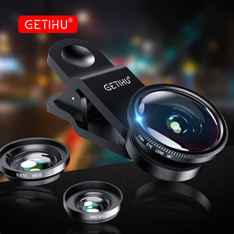 Fish Eye 3 In 1 Colour Fish Eye Warna Limited Universal Fisheye Lens 3 In 1 Mobile Phone Clip Lenses