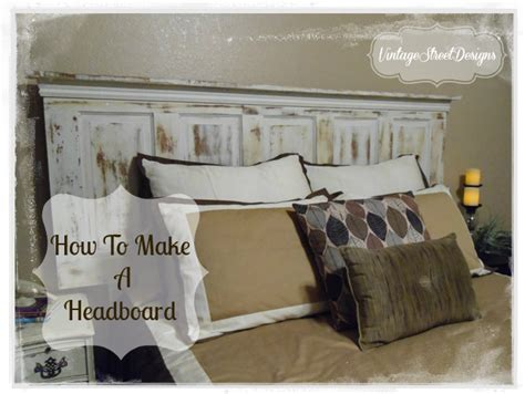 how to make a headboard tutorial
