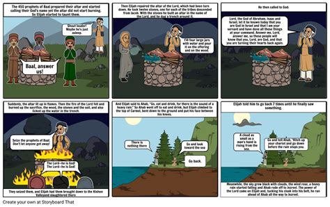 The Prophets Of Baal elijah and the prophets of baal storyboard by timoshi