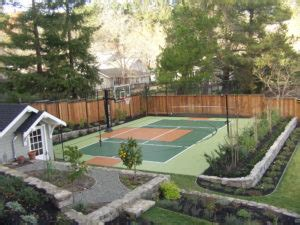 backyard tennis court cost understanding the cost of a backyard basketball court