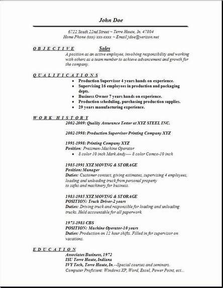 sles of resumes with objectives resume objectives for sales representative
