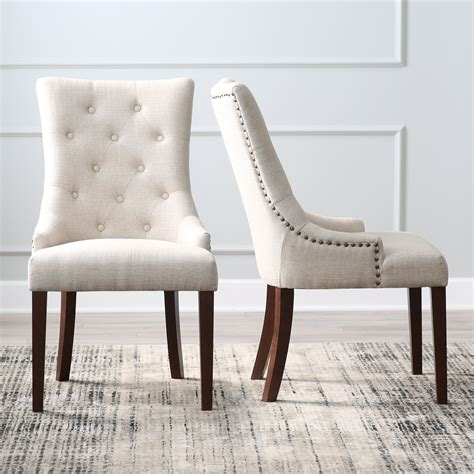 dining chairs belham living tufted tweed dining chairs set of 2