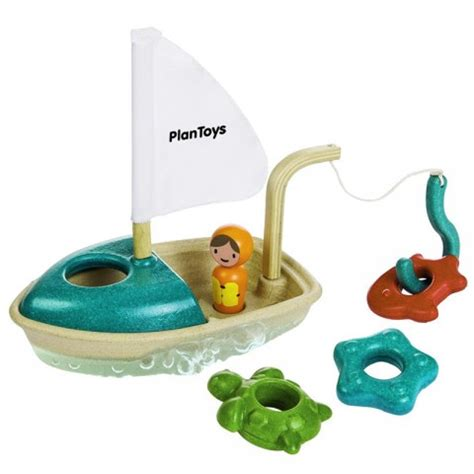 speelgoed ecocheques vissersboot 3j plan toys kudzu eco webshop