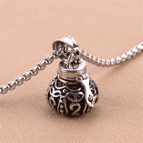 ashes jewelry stainless steel silver pets ash cremation pendant jewelry for ashes memorial