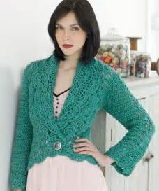 filigree cardigan crochet pattern red heart