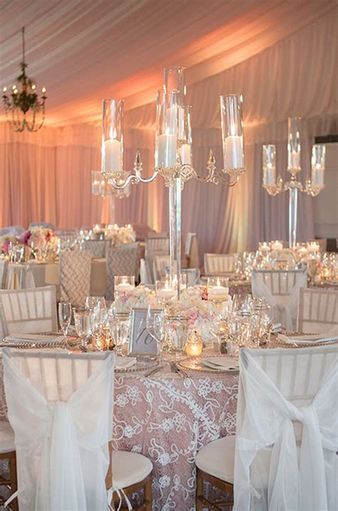 wedding reception with candles intimate candle inspiration preowned wedding
