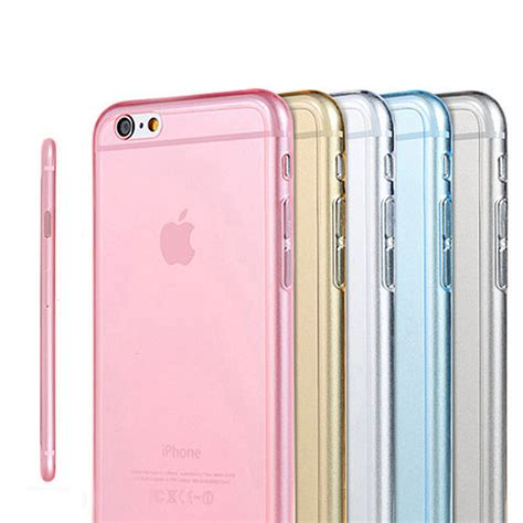 Ultrathin Ultra Thin Casing Clear Softcase Iphone 6 Plus 6s Plus ultra thin clear soft tpu for apple iphone 6 4