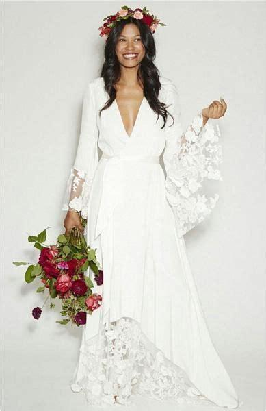 Robe Mariée Manche Longue Boheme - robe longue boheme manches longues dentelle pour mariee