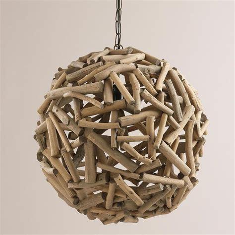 Driftwood Pendant Light Driftwood Orb Chandelier