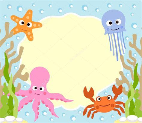 imagenes animales marinos animados fondo de dibujos animados de animales marinos vector de