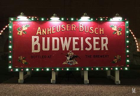 anheuser busch brewery lights 2017 brewery lights megans moments budweiser