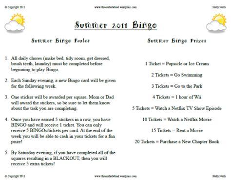 printable bingo instructions kid s summer bingo how to beat out the boredom printable