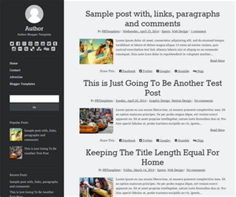 personal pages blogger templates page 2