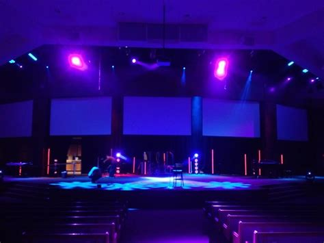 Church Stage Lighting by Industrial Light Sabers Church Stage Design Ideas