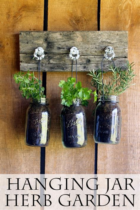 jar hanging herb garden jar crafts