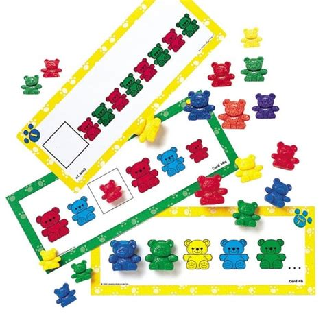 pattern activities early years counting bears pattern cards from early years resources uk