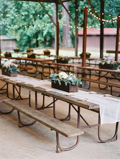 wedding bench decorations 25 best ideas about picnic table wedding on pinterest