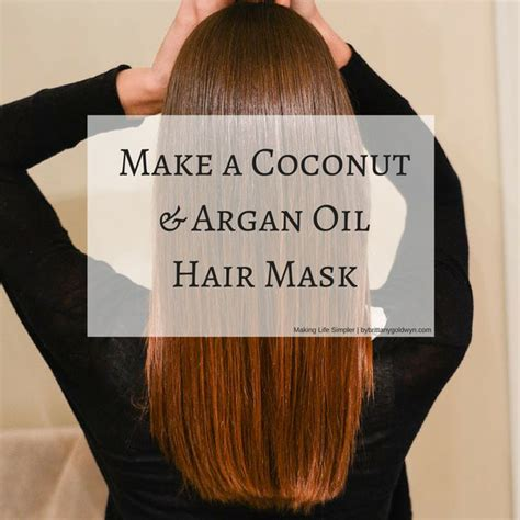 coconut oil after hair cut learn how to make a hair mask using coconut oil and argan
