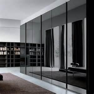 black smoke grey glass mirror wardrobe s style