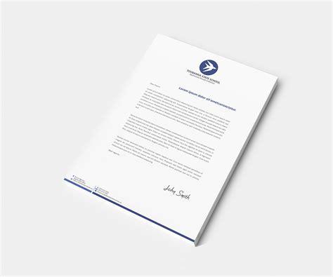 header design for letterhead modern feminine letterhead design for toobanna state