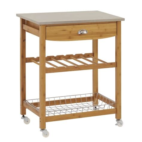 Kitchen Utility Carts by Sandusky Mkt282034 Wood Kitchen Utility Cart With