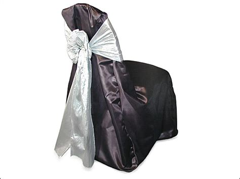 Satin Chair Covers Brenham Party Rentals Chair Covers Black Satin With