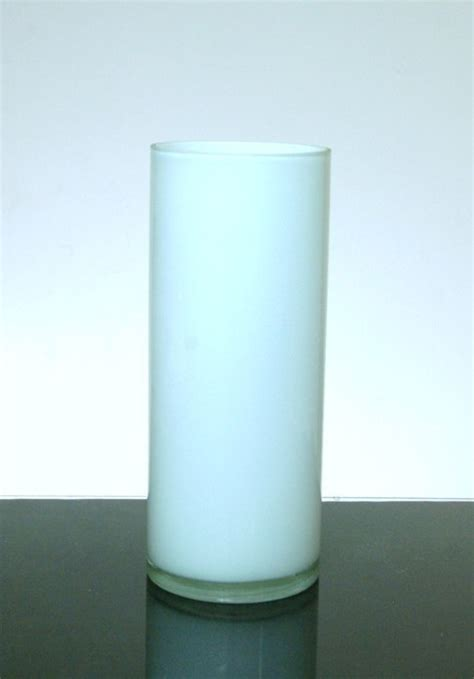 Wholesale White Vases by Baked Cylinder Glass Vase 6 Quot X 16 Quot 6 P C White Black