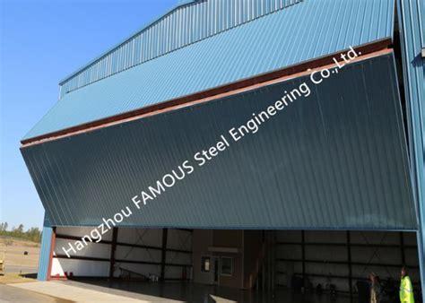 dual panel hydraulic hangar door upper folding industrial