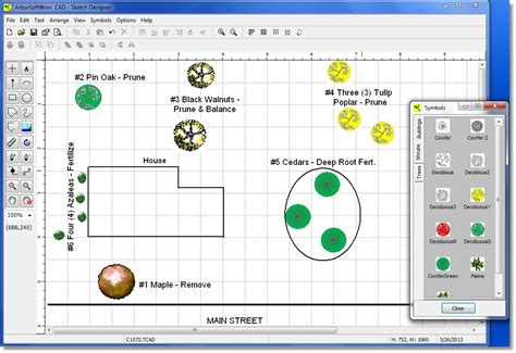 Landscape Design Software Smartdraw Arbor Software Gis Mapping Additional Tools