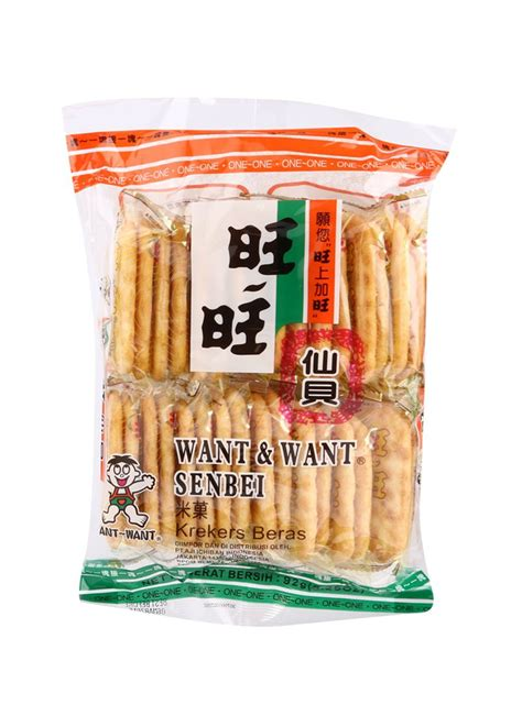 Sale Want Want Senbei Rice Crackers Krekers Beras want want crackers senbei pck 92g klikindomaret