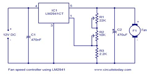 fan speed controller using lm2941 electronic circuits