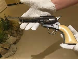 The wyatt earp gun on display at the arizona history museum photo by